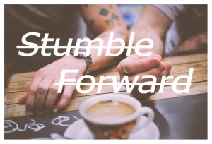stumble forward